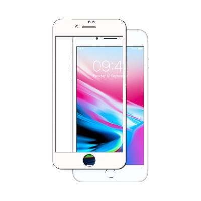Película Premium HPrime Apple iPhone 7 / iPhone 8 [Branco] - ColorGlass 6D (Cobre a parte curva da tela)