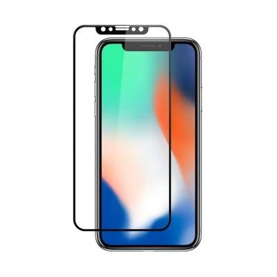 Película Premium HPrime Apple iPhone X / iPhone Xs [Preto] - ColorGlass 6D (Cobre a parte curva da tela)