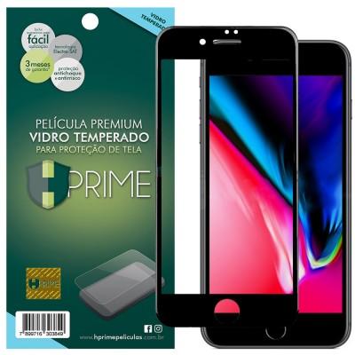Película Vidro Temperado Premium HPrime Apple iPhone 8 Plus [Preto] - ColorGlass 6D (Cobre a parte curva da tela)