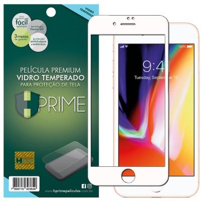 Película Vidro Temperado Premium HPrime Apple iPhone 8 Plus [Branco] - ColorGlass 6D (Cobre a parte curva da tela)