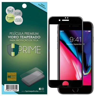 Película Vidro Temperado Premium HPrime Apple iPhone 8 [Preto] - ColorGlass 6D (Cobre a parte curva da tela)