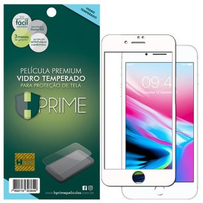 Película Vidro Temperado Premium HPrime Apple iPhone 8 [Branco] - ColorGlass 6D (Cobre a parte curva da tela)