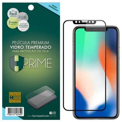 Película Vidro Temperado Premium HPrime Apple iPhone X [Preto] - ColorGlass 6D (Cobre a parte curva da tela)