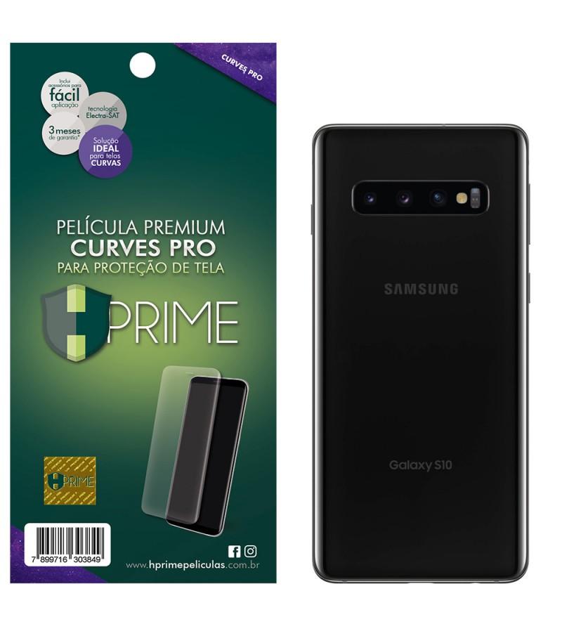 Película Premium HPrime Samsung Galaxy S10 - VERSO - Curves PRO (Se adere na parte curva da tela)