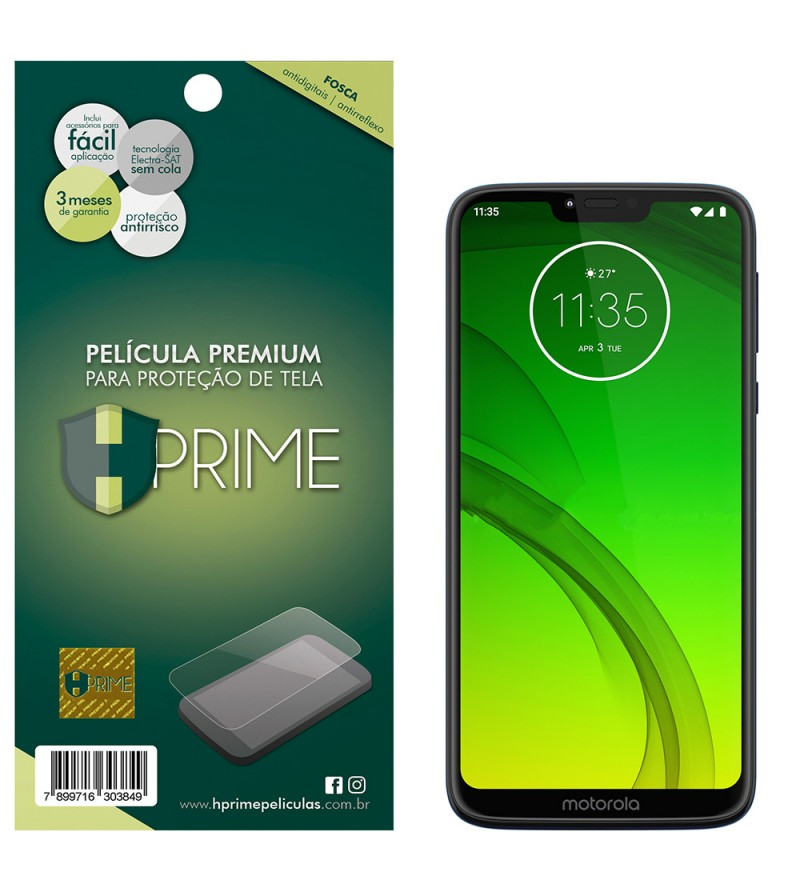 Película Premium HPrime Motorola Moto G7 Power - PET Fosca